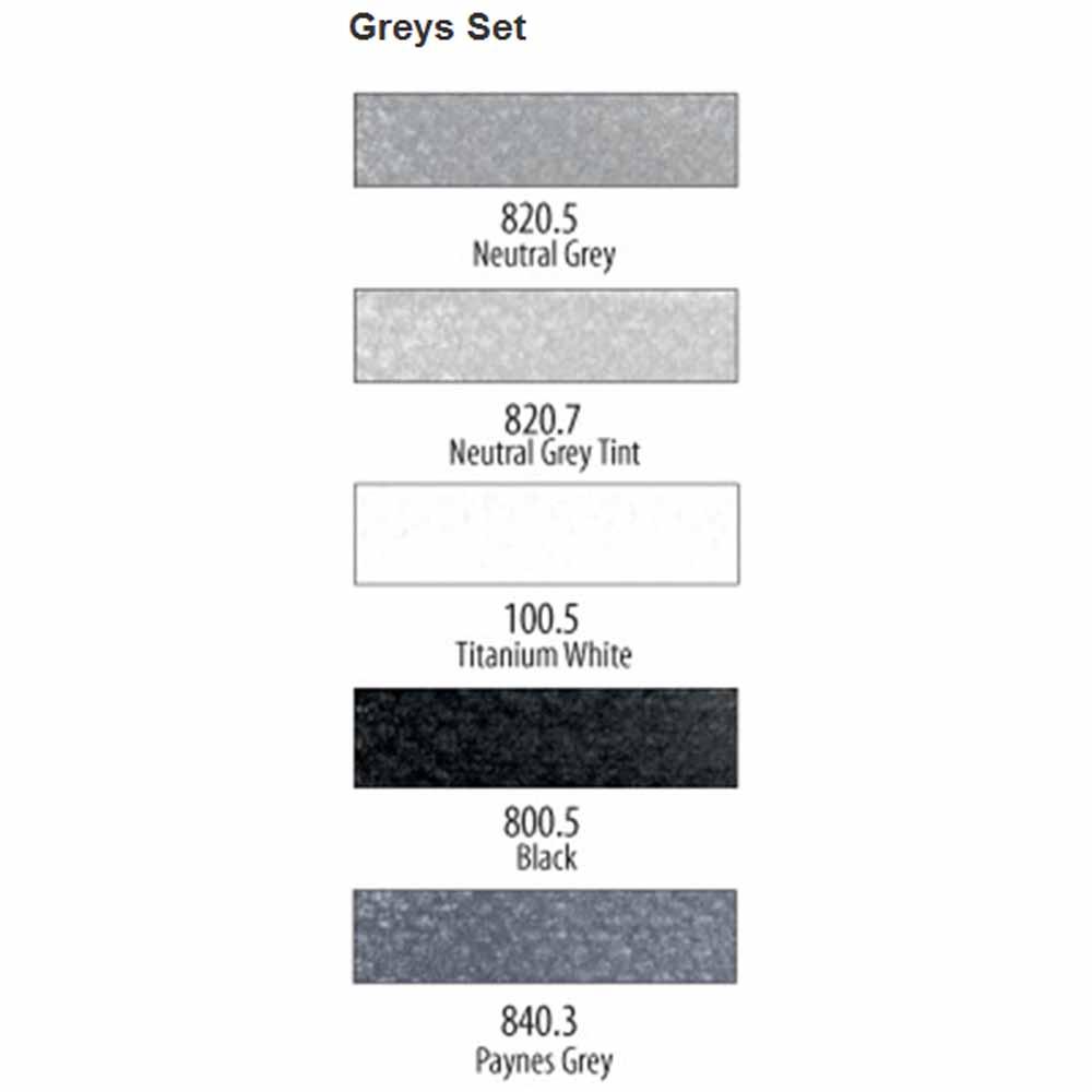 PanPastel Greys Set of 5