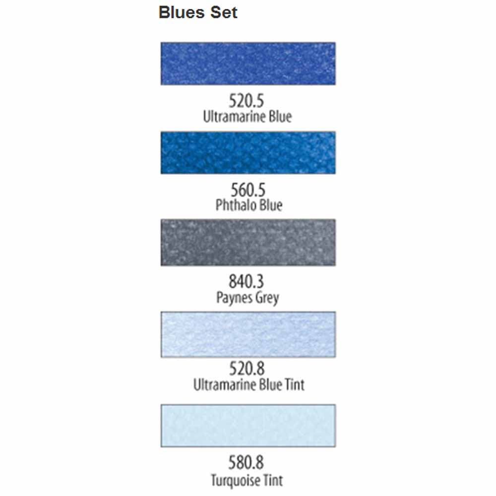 PanPastel Extra Blues Set of 5