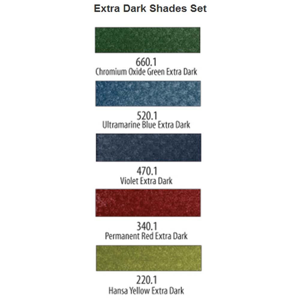 PanPastel Extra Dark Shades Set of 5
