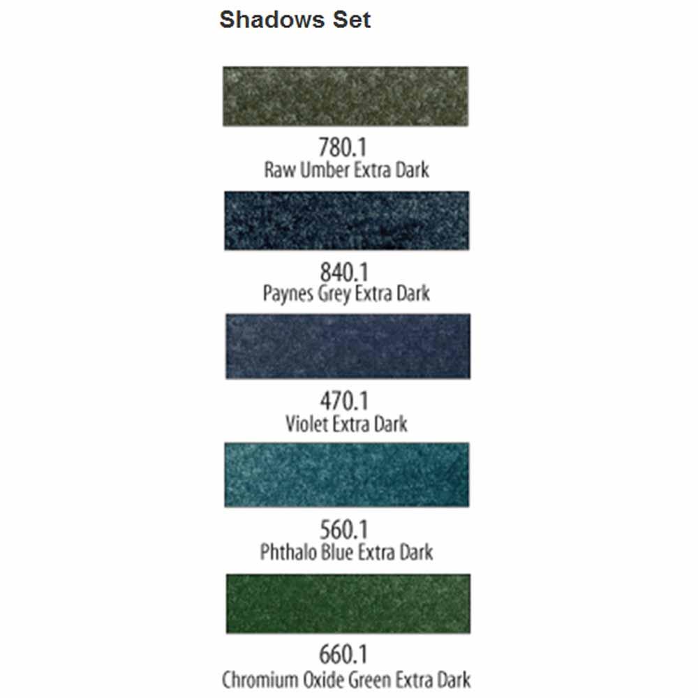PanPastel Extra Dark Shadows Set of 5