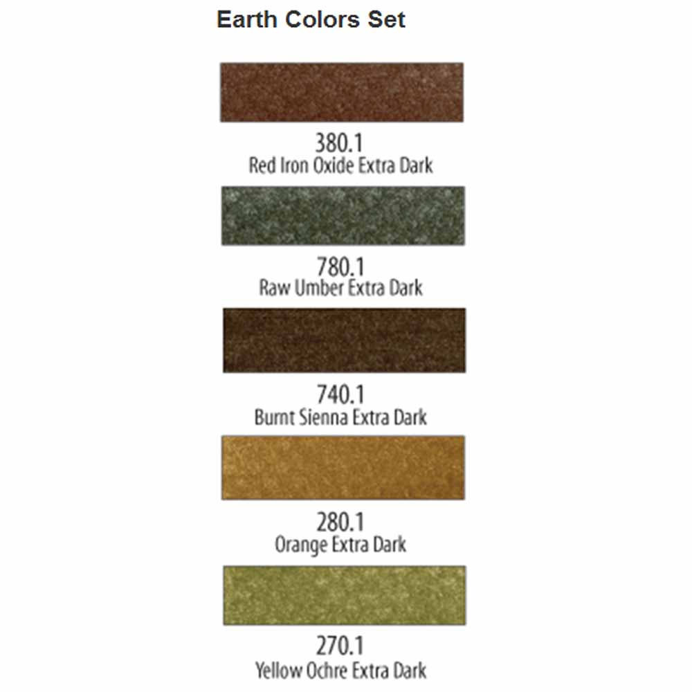 PanPastel Earth Colors Set of 5