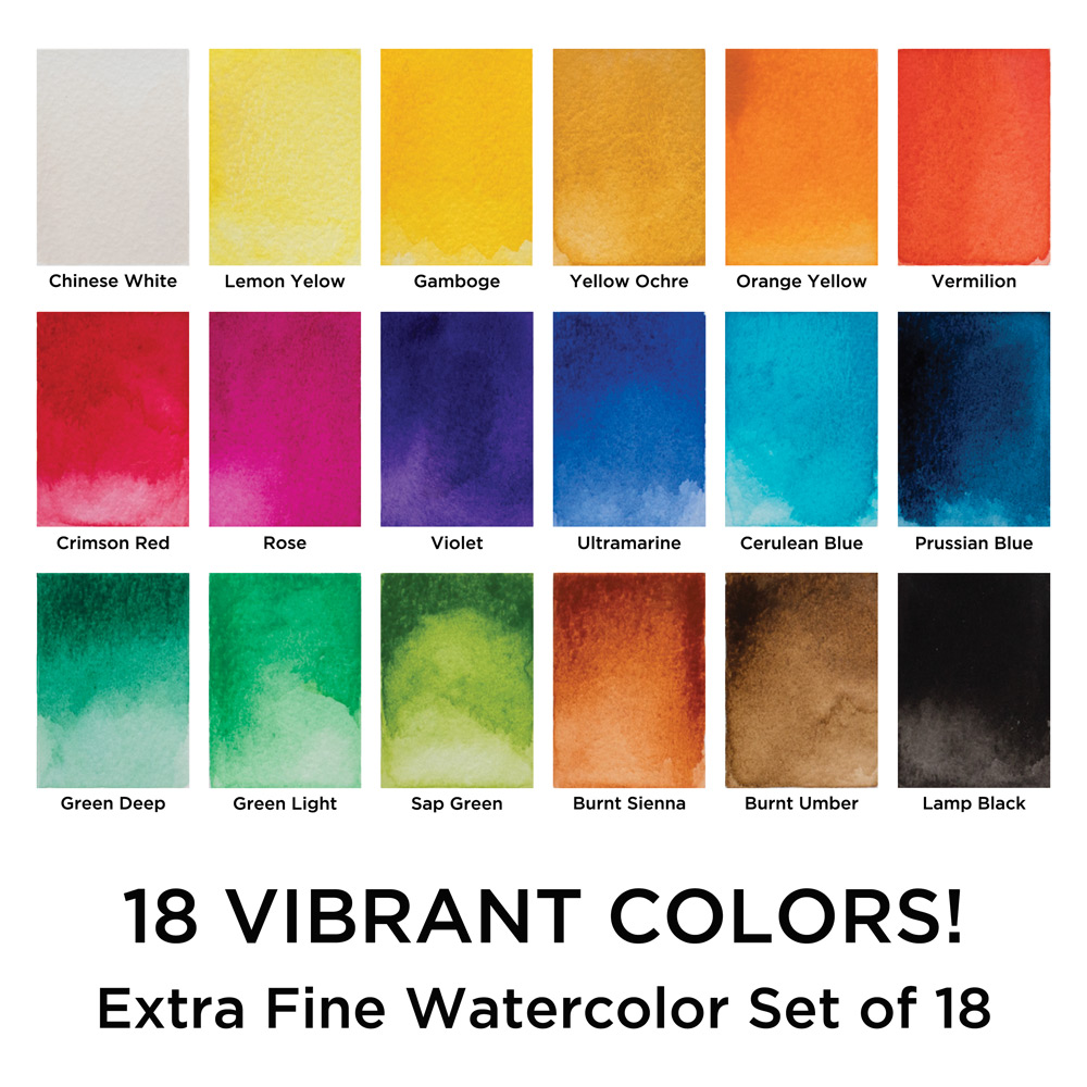 Maries watercolor and gouache sets student grade painting sets open color andor size chart click here nvjuhfo Images